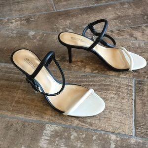 Michael Kors size 6.5 black/white sandals